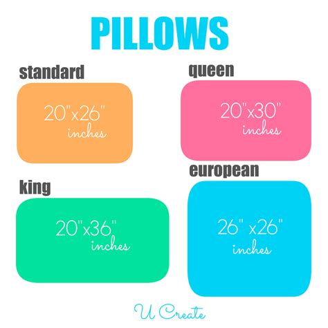 standard pillow size your ultimate guide to bedding dimensions u create