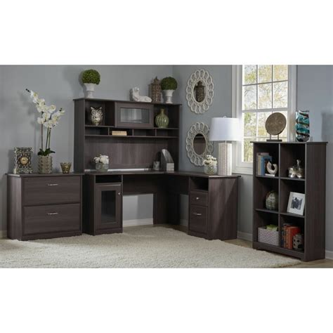 Bookshelf Hutch by Cabot L Shaped Desk With Hutch 6 Cube Bookcase And