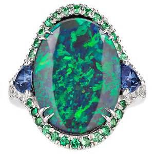 yellow sapphire engagement ring 3 60 carat lightning ridge black opal ring at 1stdibs