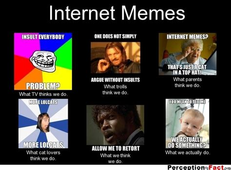 What Is Internet Meme - internet memes what people think i do what i really do perception vs fact