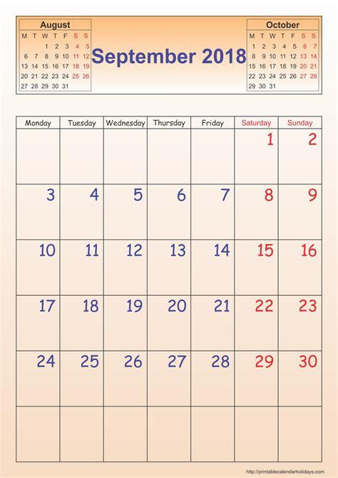 september calendar template portrait printable