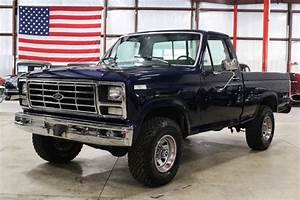 1986 Ford F150 81163 Miles Blue Pickup Truck 302cid V8 4