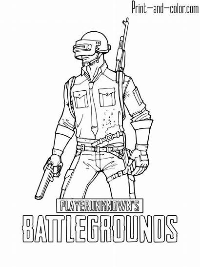 Coloring Pubg Battlegrounds Colouring Playerunknown Blueprint Sketch