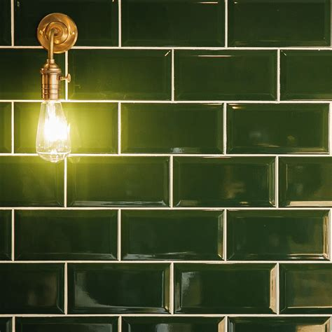 Metro Dark Green Wall Tiles  Crown Tiles