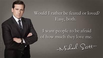 Boss Scott Michael Leadership Loved Quotes Office
