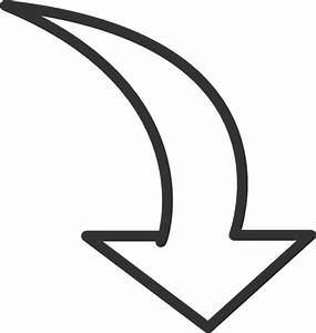 White Curved Arrow Clip Art at Clker.com - vector clip art ...