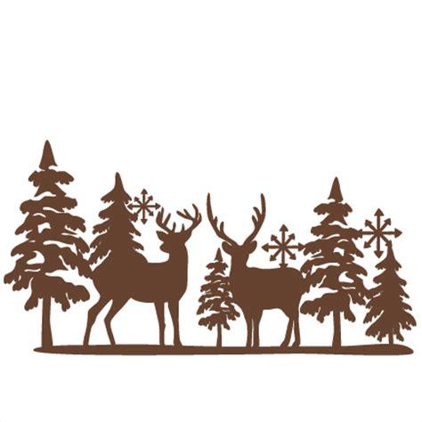 winter reindeer svg scrapbook cut file cute clipart files