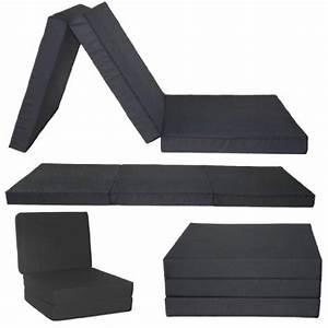 Chauffeuse D Appoint : gilda d plier matelas noir fresco chaise chauffeuse ~ Teatrodelosmanantiales.com Idées de Décoration
