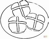 Cross Coloring Pages Buns Clipart Colouring Easter Printable Bread Roll Drawing Clip Ipad Food Cliparts Paper Christian Designs Supercoloring Categories sketch template