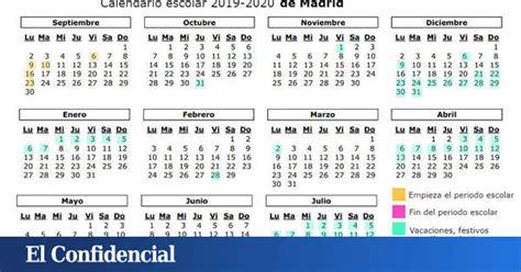calendario escolar cuando es la vuelta al cole en madrid