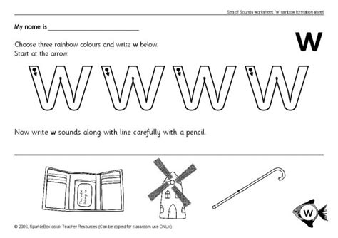 letter w worksheets sb503 sparklebox
