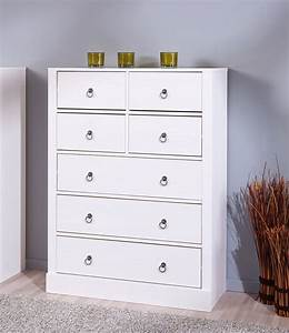 meuble de rangement contemporain blanc 7 tiroirs florence With meuble 7 tiroirs