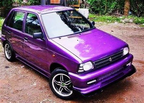 Modified Violet Maruti 800 with Body Kit - ModifiedX