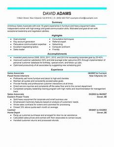 Sales associate resume sample my perfect resume for Sample resume for sales associate and customer service