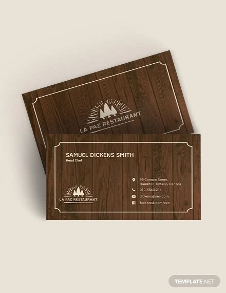 FREE 34+ Business Card Templates in Word PSD AI EPS