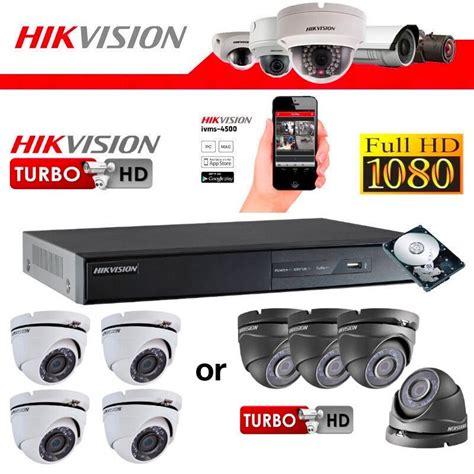 hikvision full hd cctv camera system installation 4x 1080p weatherproof cameras 2tb hikvision