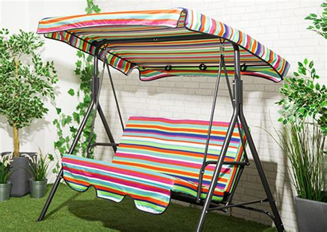 Replacement Hammock Canopy by Skiing Stripe Waterproof 3 Seater Replacement Canopy For