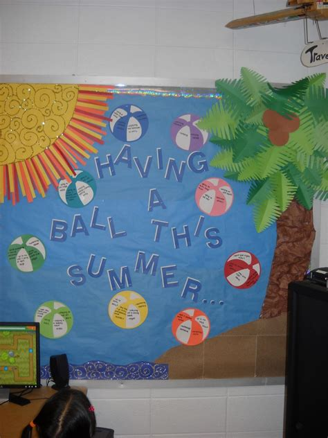 ball  summer classroom bulletin board idea