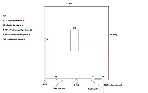 Electrical Wiring Diagram For Shed by Help Drawing A Wiring Diagram Electrical Diy Chatroom