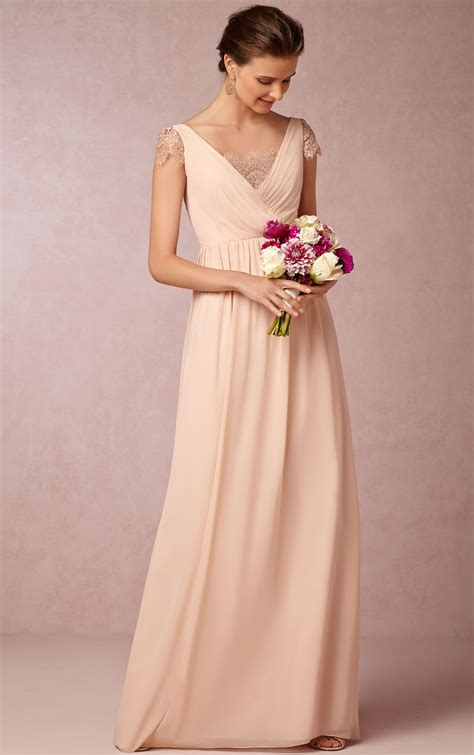 a line chiffon floor length cap sleeve zipper bridesmaid