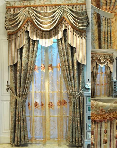 vintage drapes and curtains vintage lace curtains in combined green color for fancy