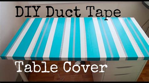Tisch Neu Bekleben by Diy Duct Table Cover Recycle Your Table Top