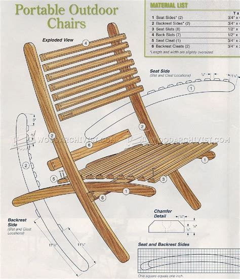 wooden beach chairs plans diy projects charter