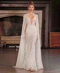 real photo sexy wedding dresses with cape 2017 berta With wedding dress with cape