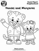 Coloring Daniel Tiger Neighborhood Margaret sketch template