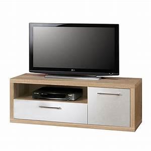 Lowboard Eiche Weiß : tv lowboard fresno i sonoma eiche dekor hochglanz wei ~ Whattoseeinmadrid.com Haus und Dekorationen