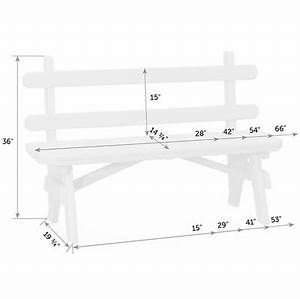 Amish Outdoor Benches - Garden Bench with Back - Handmade ...