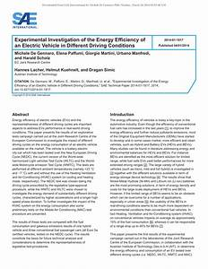 (PDF) Experimental Investigation of the Energy Efficiency ...
