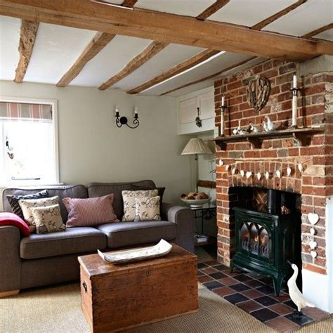 country living room ideas with fireplace exposed brick fireplaces on 100 inspiring