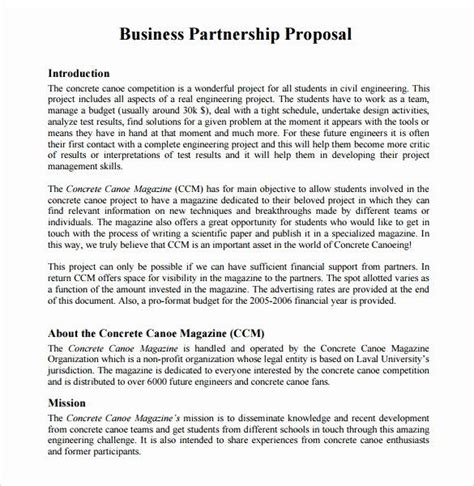 sample business proposal letter  partnership  sample