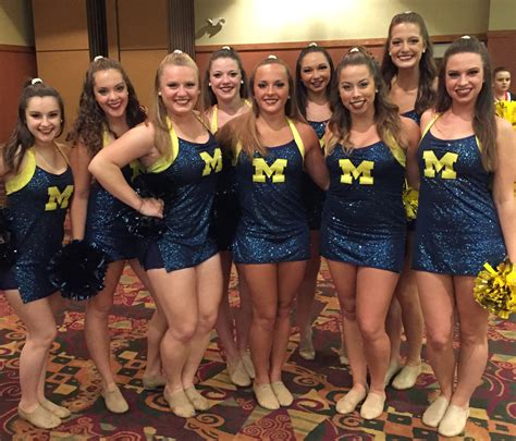 University of Michigan dance team Game Day Uniform by The Line Up | Cheer u0026 Pom | Pinterest ...
