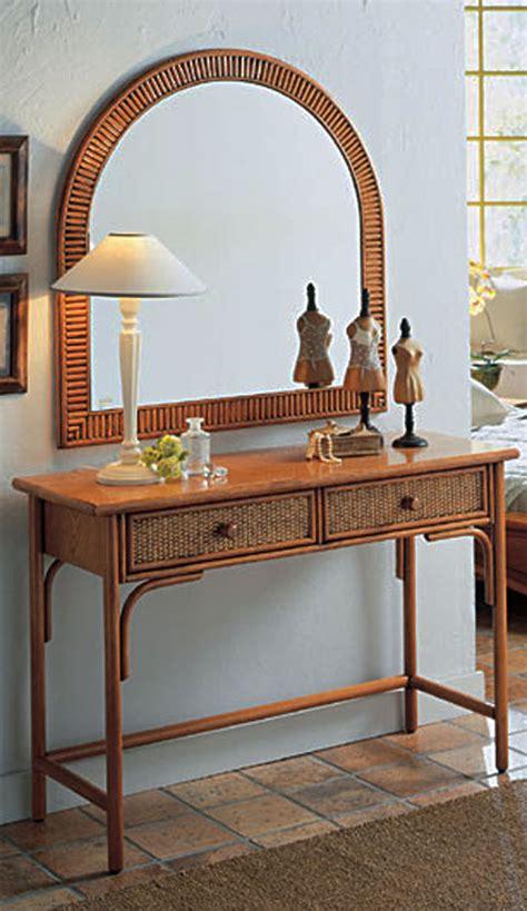 bureau en rotin coiffeuse console bureau rotin et bois 4237