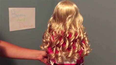 How to Curl Your American Girl Dolls Hairs with Curly Hair