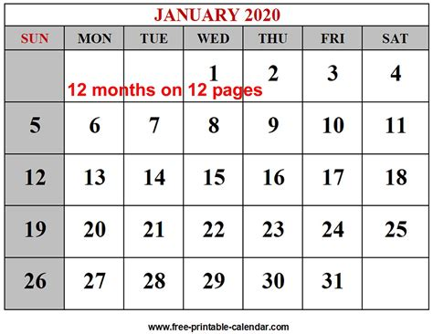 year calendar templates printable calendarcom