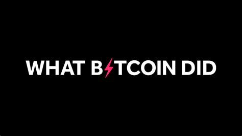Antonopoulos, stephanie murphy stream tracks and playlists from speaking of bitcoin (formerly let's talk bitcoin!) on. Bitcoin Podcast Episodes: What Bitcoin Did