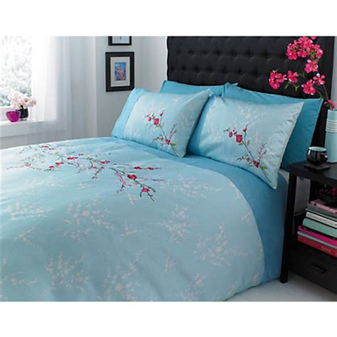Home Of Style Mia Duvet Cover Set  Duck Egg Double
