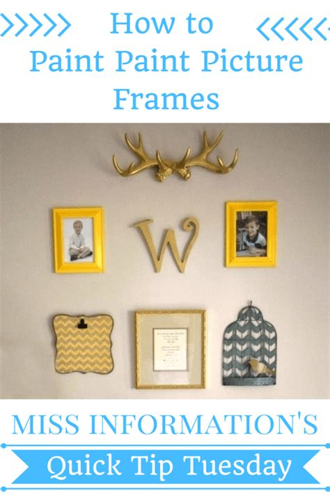 How To Paint Picture Frames With Clean Edges Miss