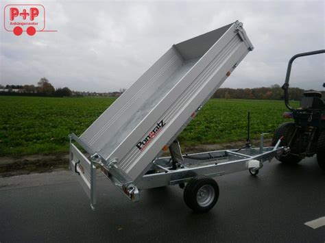 pkw anhänger gebraucht kipper pongratz rk 2300 15 g al alu r 252 ckw 228 rtskipper 1500 kg kipper pkw anh 228 nger ebay