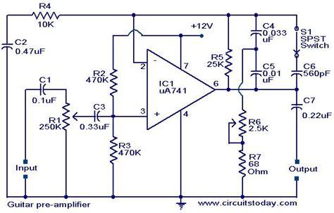 Guitar Pre Amplifier Using Electronic Circuits