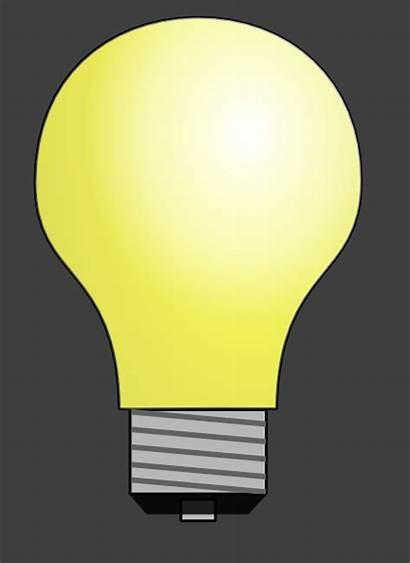 Bulb Clip Lighting Yellow Transparent Clipart Incandescent