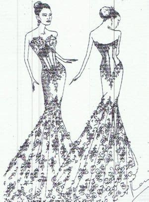 mermaid style wedding dresses drawing google search