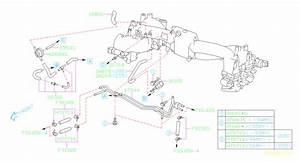 2002 Subaru Wrx Hose Vacuum  Fuel  Intake  Pipe