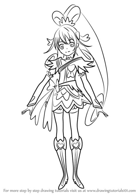 learn   draw cure heart  pretty cure pretty cure step  step drawing tutorials