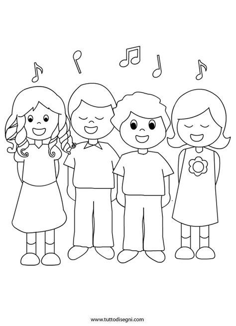 tutto da colorare e stare bambini che cantano da colorare tutto disegni