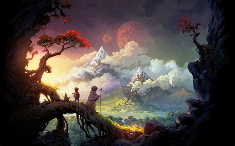 fantasy landscape wallpaper  android long wallpapers