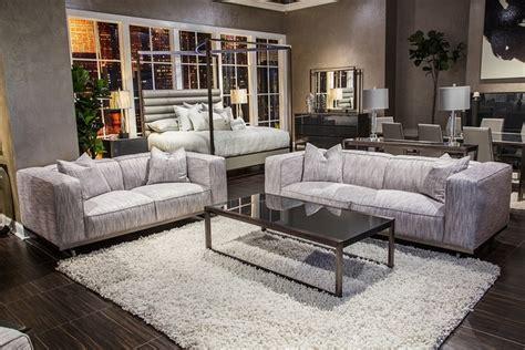 Trance Tempo Contemporary Grey Fabric Sofa Set With